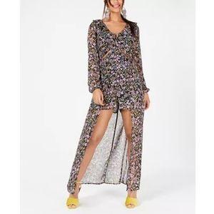 Material Girl Dresses - Material girl floral Cutout walk through dress NWT